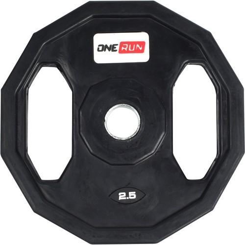 Обрезиненный диск с хватами OneRun 2,5 кг 26 мм