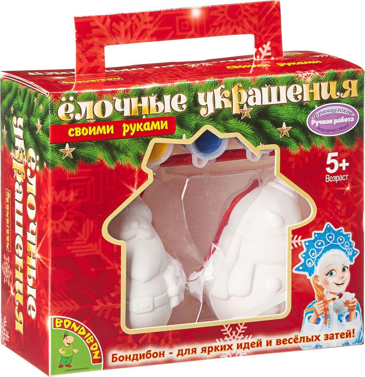 Bondibon Набор для изготовления игрушек Ёлочные украшения Дед Мороз Снеговик bondibon набор для творчества bondibon ёлочные украшения месяц дед мороз снеговик звезда
