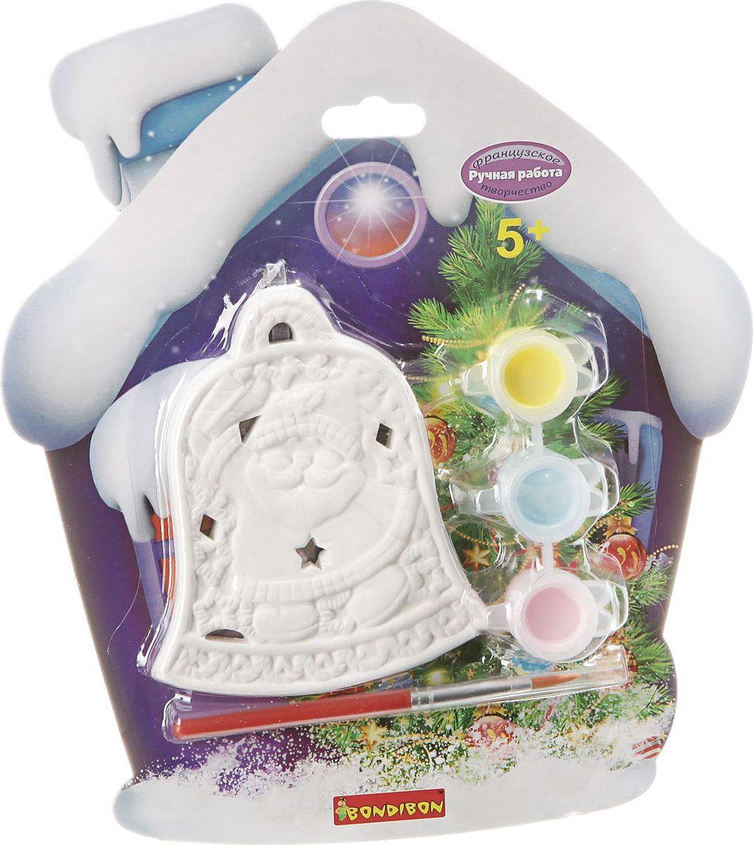 Bondibon Набор для изготовления игрушек Ёлочные украшения Колокольчик bondibon набор для изготовления игрушек из помпонов домашние питомцы