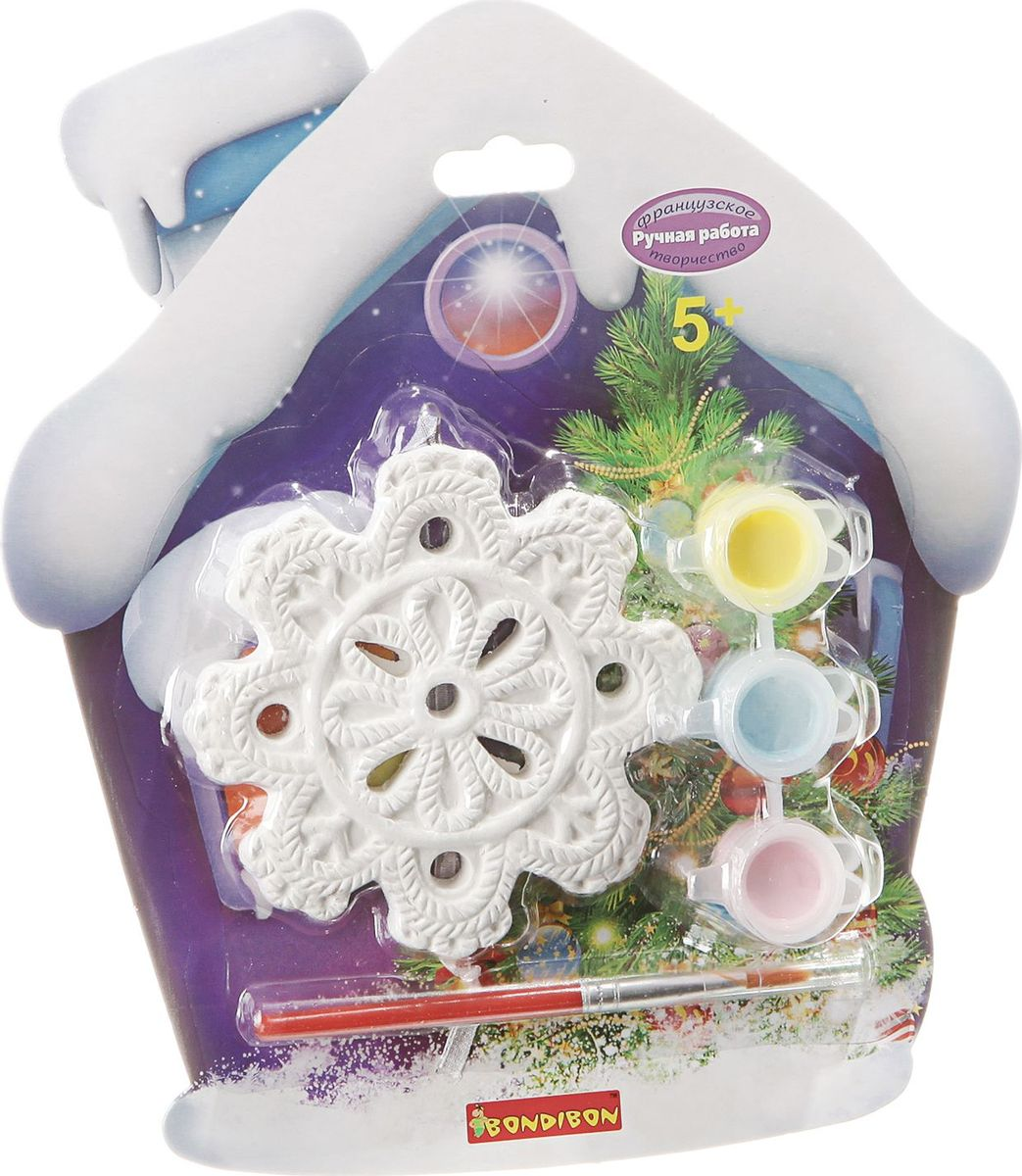 Bondibon Набор для изготовления игрушек Ёлочные украшения Снежинка ВВ1655 bondibon набор для изготовления игрушек ёлочные украшения вв1688