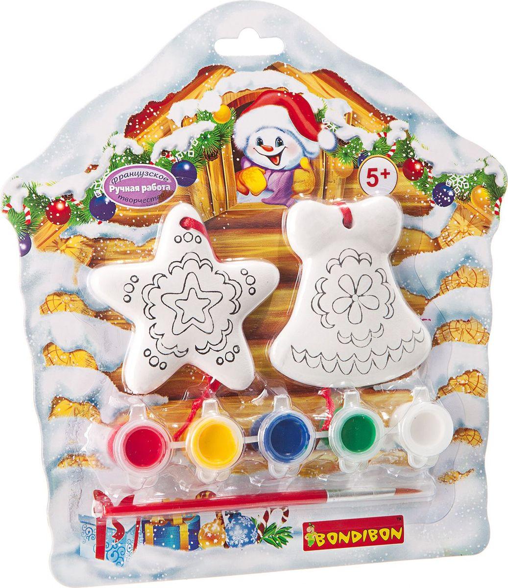 Bondibon Набор для изготовления игрушек Ёлочные украшения ВВ1688 bondibon набор для изготовления игрушек из помпонов домашние питомцы