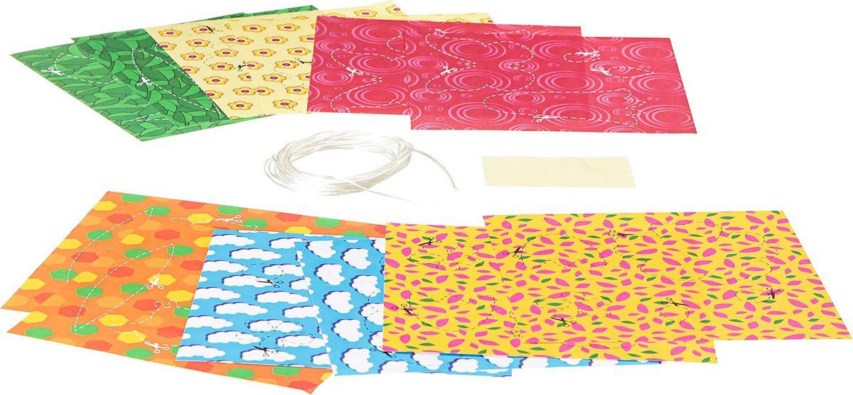 BondibonПоделки из бумаги Гирлянда из бумаги Цветочная поляна Bondibon