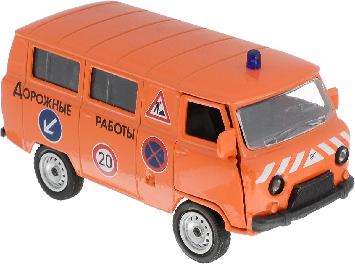 Фото - Autotime Модель автомобиля UAZ 39625 Дорожные работы autotime модель автомобиля чайка кгб