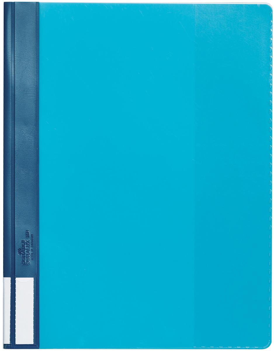 Durable Папка-скоросшиватель А4 цвет голубой папка скоросшиватель с европланкой ф а4 синяя