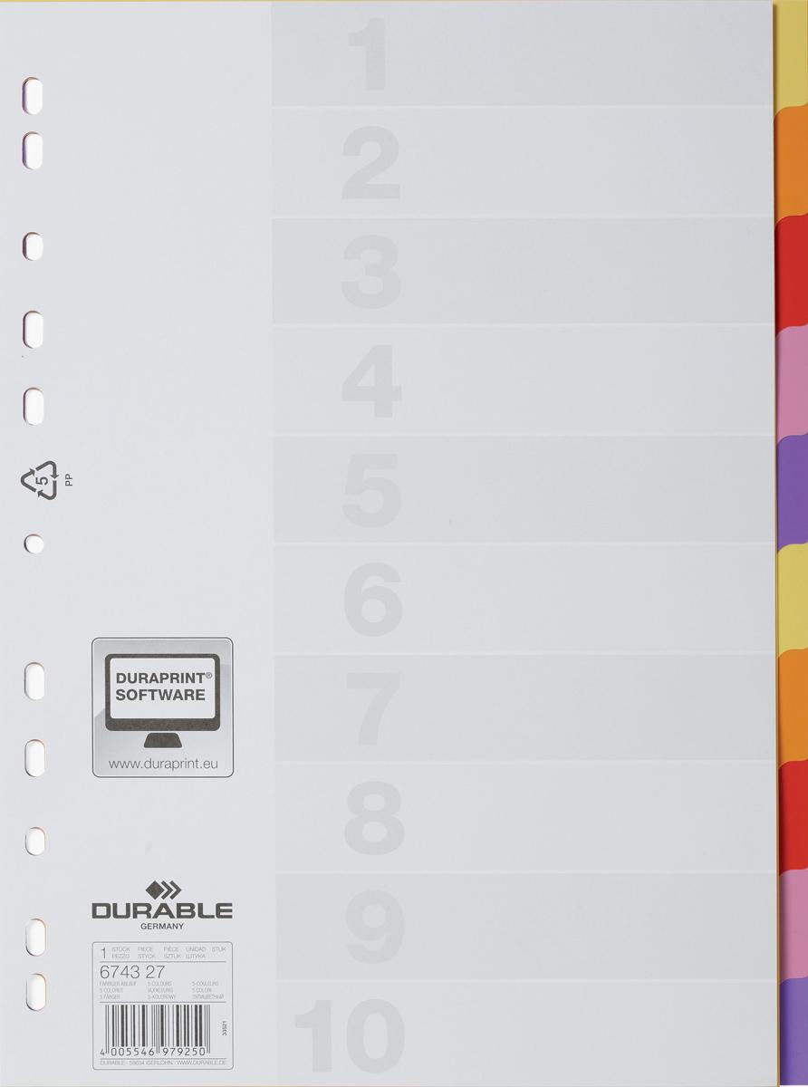 Durable Разделитель Varicolor A4 10 секций