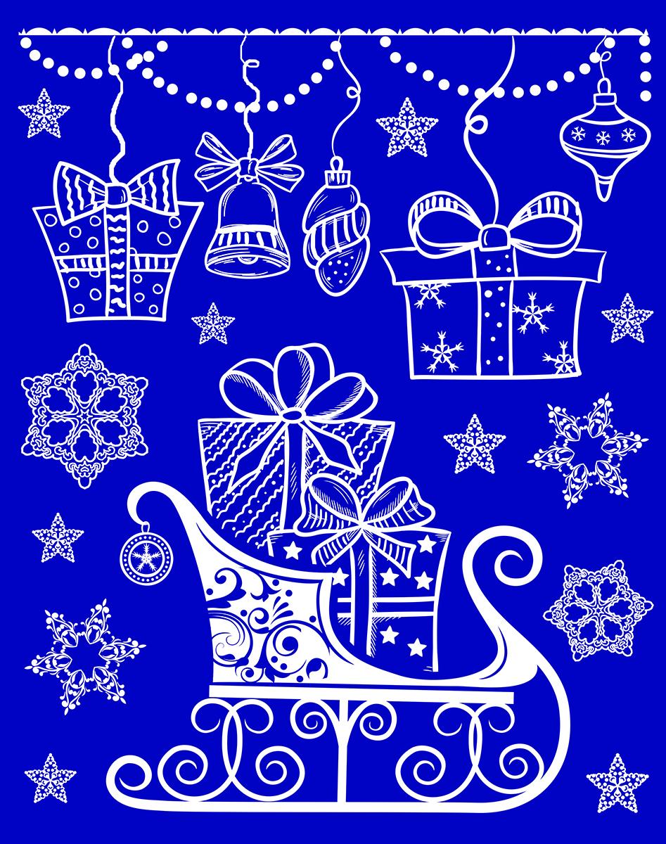 Украшение новогоднее оконное Magic Time. 41755 оконное украшение подарок 17543