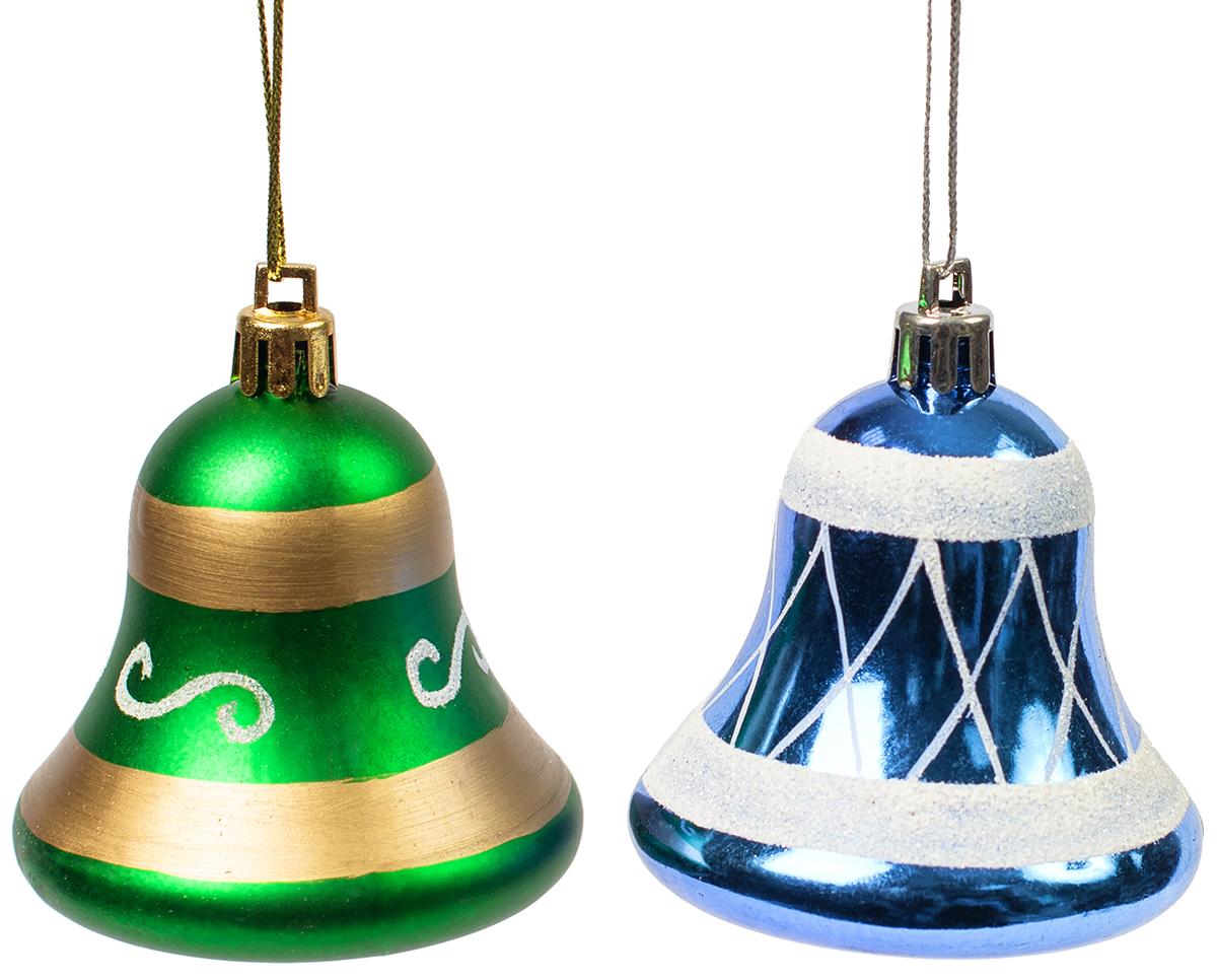 Украшение новогоднее подвесное Magic Time, 2 шт. 75462 новогоднее подвесное украшение magic time венок цвет белый диаметр 12 7 см