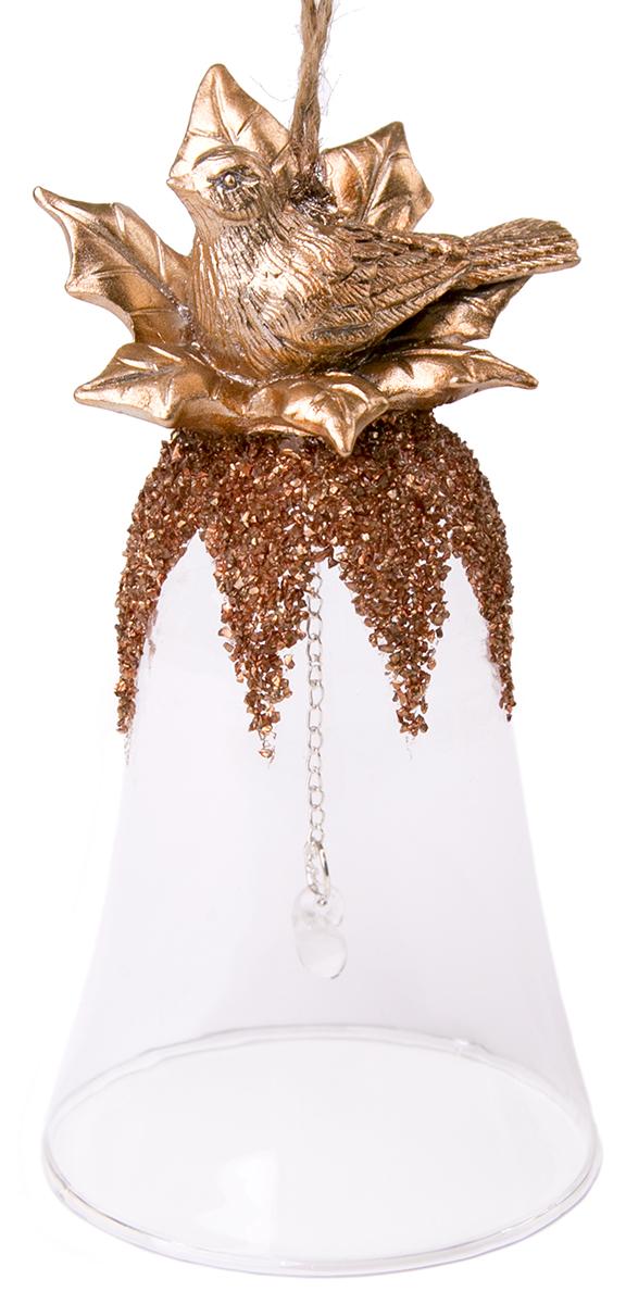 Украшение новогоднее подвесное Magic Time Колокольчик. Птицы новогоднее подвесное украшение лягушка цвет золотистый желтый ф21 1711
