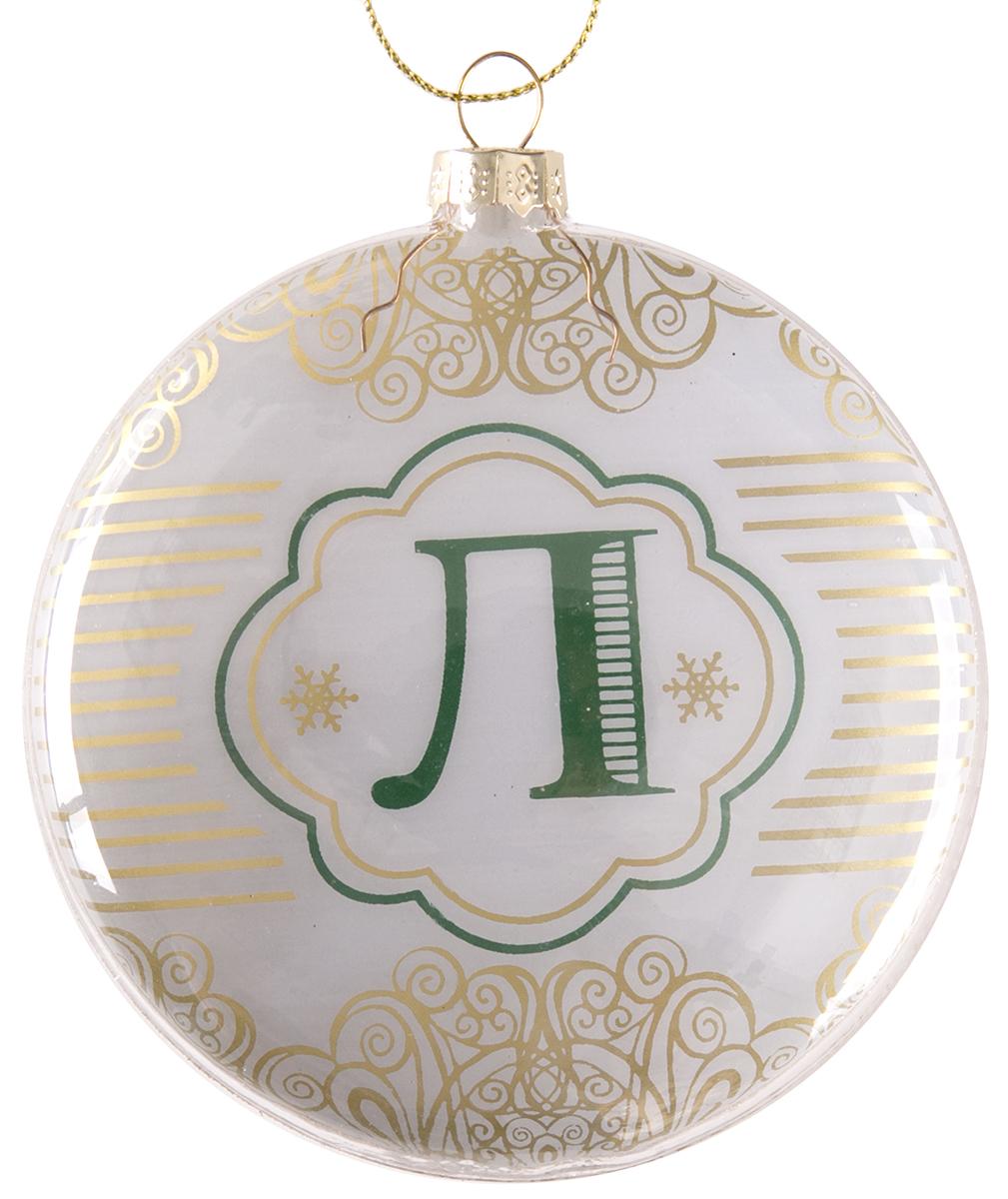 Украшение новогоднее подвесное Magic Time Буква Л, стеклянное новогоднее подвесное украшение magic time венок цвет белый диаметр 12 7 см