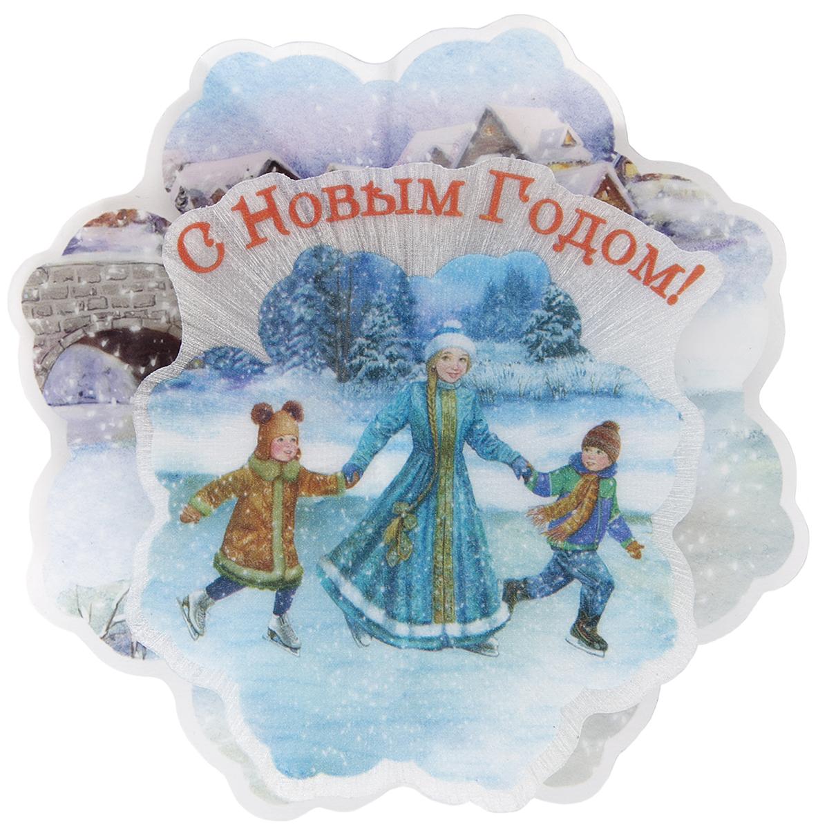 Украшение новогоднее Magic Time Зимние забавы, с подсветкой зимние забавы раскраска