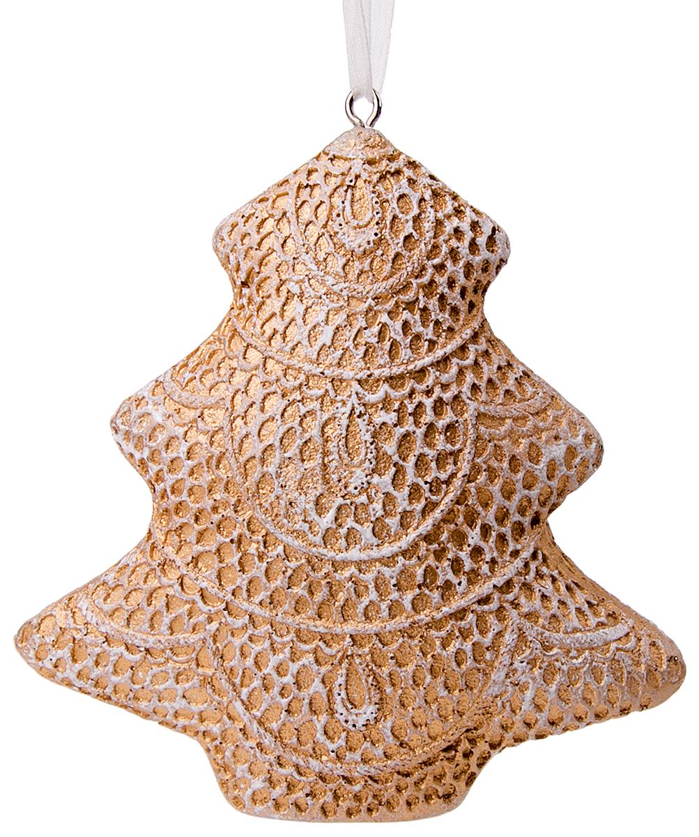 Украшение новогоднее подвесное Magic Time Кружевная елка новогоднее подвесное украшение magic time венок цвет белый диаметр 12 7 см