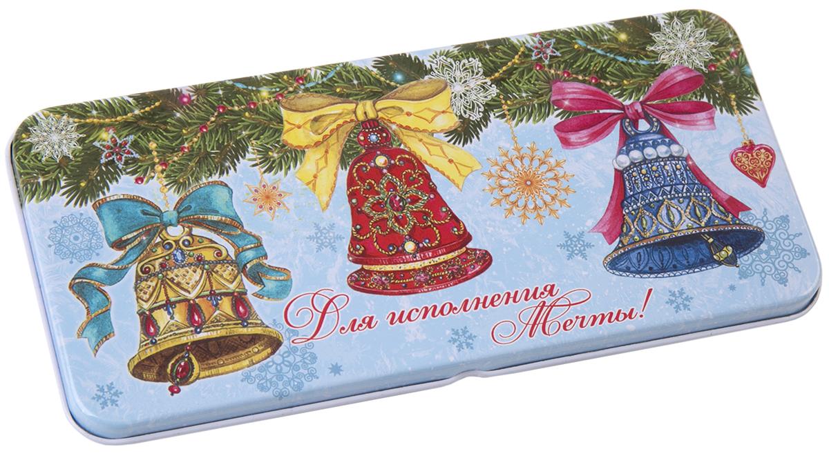 Коробочка для денег подарочная Magic Time Елки с колокольчиками. 76345 коробочка для денег подарочная magic time красное и золотое 76335