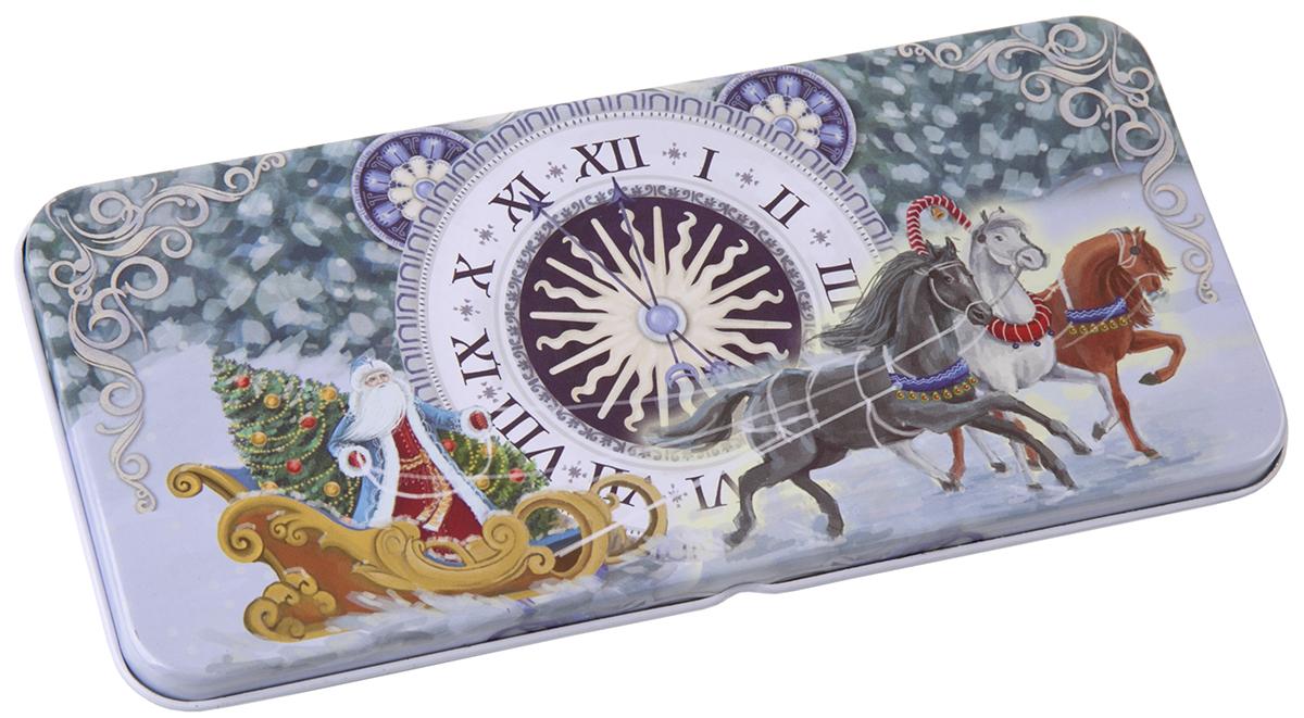 Коробочка для денег подарочная Magic Time Новогодние часы. 76349 коробочка для денег подарочная magic time красное и золотое 76335