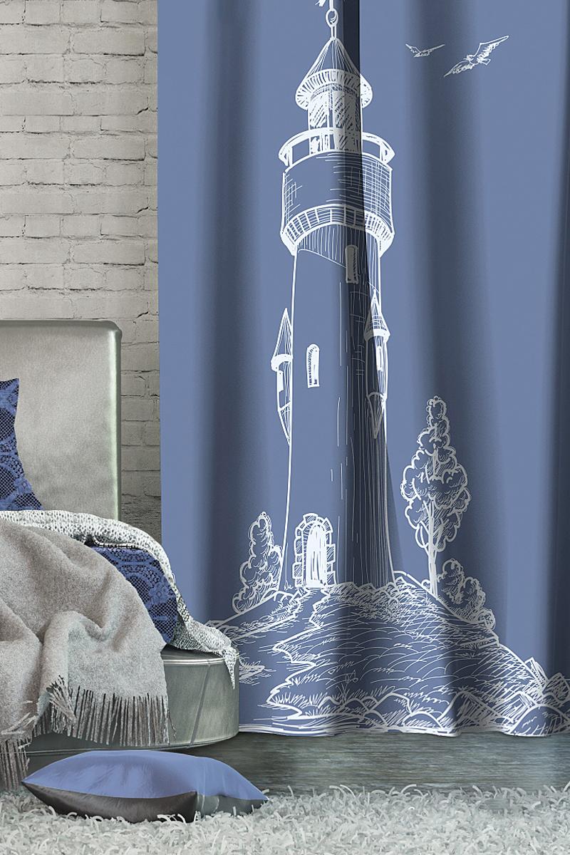 Штора Волшебная ночь Lighthouse, на ленте, цвет: синий, высота 270 см705458Шторы коллекции Волшебная ночь - это готовое решение для Вашего интерьера, гарантирующее красоту, удобство и индивидуальный стиль! Длина штор регулируется с помощью клеевой паутинки (в комплекте). Изделия крепятся на вшитую шторную ленту: на крючки или путем продевания на карниз. Дизайнеры Марки предлагают уже сформированные комплекты штор из различных тканей и рисунков для создания идеальной композиции на окне. Для удобства выбора дизайны штор распределены в стилевые коллекции: ЭТНО, ВЕРСАЛЬ, ЛОФТ, ПРОВАНС. В коллекции Волшебная ночь к данной шторе Вы также сможете подобрать шторы из тканей: ВУАЛЬ - легкое затемнение, декоративная функция, БЛЭКАУТ (100% затемненение), сатен и ГАБАРДИН (частичное затемнение), которые будут прекрасно сочетаться по дизайну и обеспечат особый уют Вашему дому. Рекомендуем!