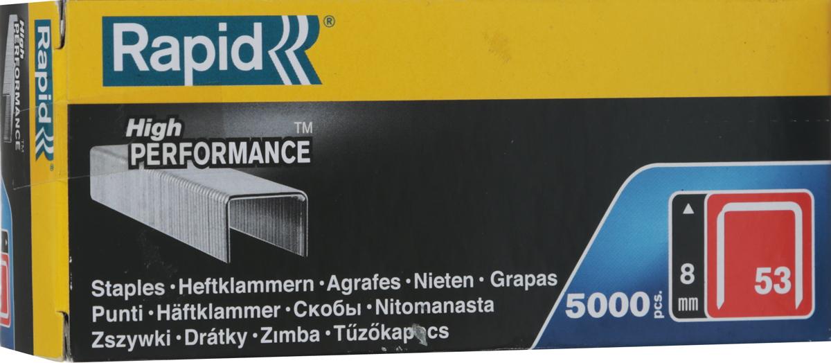 Скобы для степлера Rapid 53/8 5М Workline, 5000 шт скоба rapid 53 10 5м workline