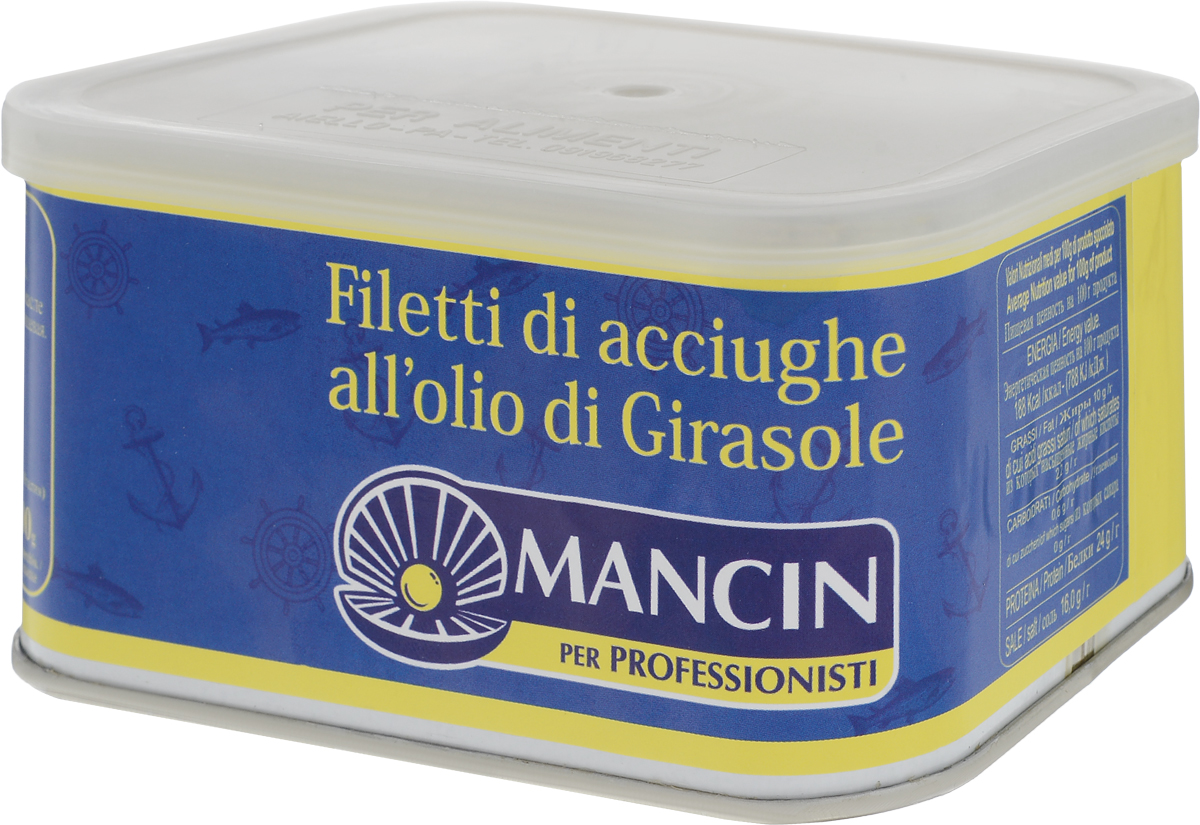 Mancin анчоусы филе в подсолнечном масле, 600 г mancin анчоусы филе в подсолнечном масле 78 г