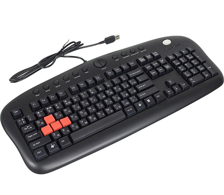 Игровая клавиатура A4Tech KB-28G-1, Black