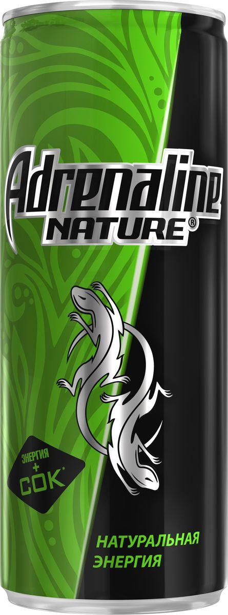 лучшая цена Adrenaline Nature энергетический напиток, 0,25 л