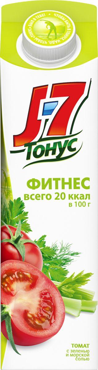 J-7 Тонус Томат и зелень сок с мякотью, 0,9 л
