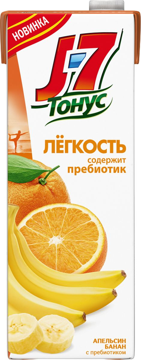 J-7 Тонус Апельсин-Банан нектар с мякотью 1,45 л