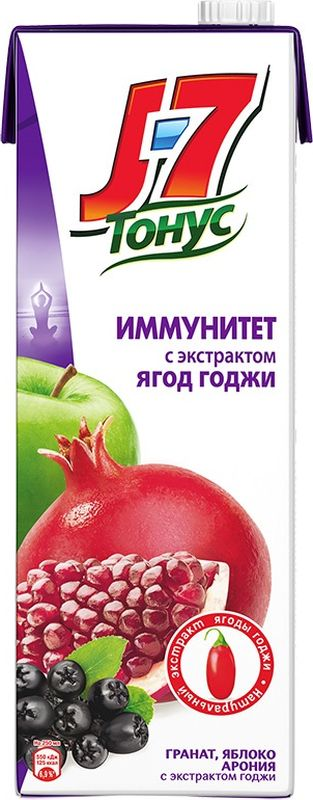 J-7 Тонус Яблоко-Гранат-Черноплодная рябина-Годжи нектар 1,45 л