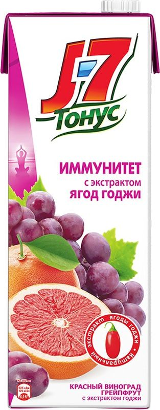 J-7 Тонус Грейпфрут-Виноград-Годжи нектар с мякотью 1,45 л