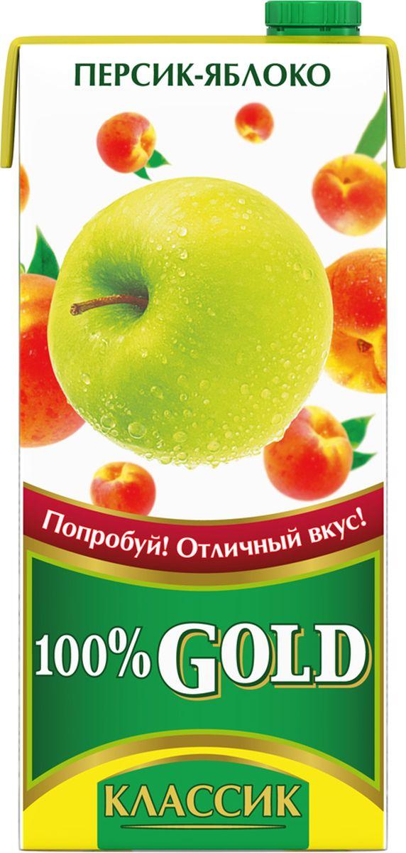 100% Gold Классик Персик-Яблоко напиток сокосодержащий, 0,95 л напиток родной яблочно виноградный сокосодержащий