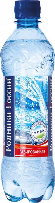 Родники России вода минеральная природная столовая газированная, 0,5 л