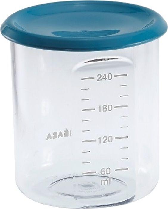 цена на Beaba Контейнер для детского питания Maxi Portion Tritan Blue 240 мл