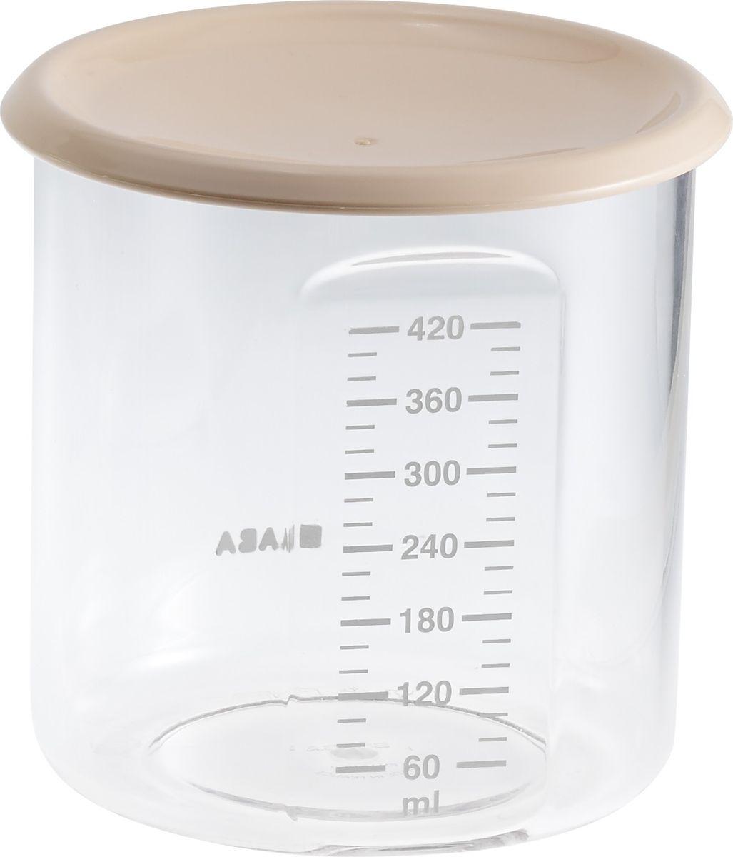 цена на Beaba Контейнер для детского питания Maxi+Portion Tritan Nude 420 мл
