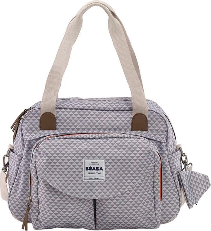 255d4f06b2ab Beaba Сумка для мамы Geneva Changing Bag Ii Gray — купить в интернет- магазине OZON.ru с быстрой доставкой