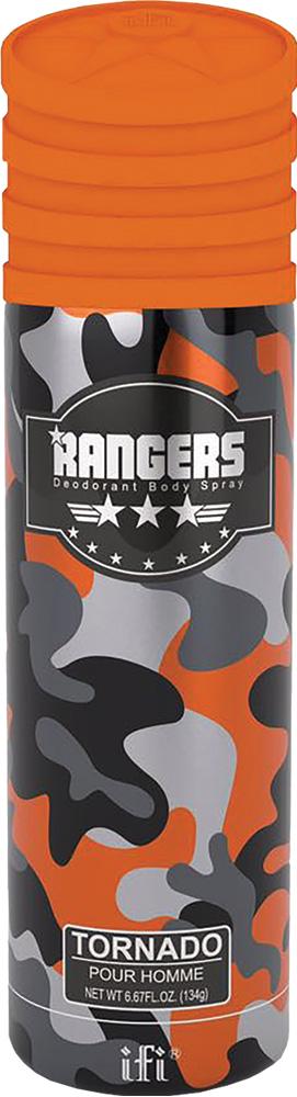 Rangers Дезодорант Tornado M Deo Spr, 200 мл4751006753990Настоящий мужской аромат - чувственный и сильный. В яркой композиции смешаны свежие цитрусовые ноты и острые специи. База состоит из теплых древесных нот и ароматной кожи.