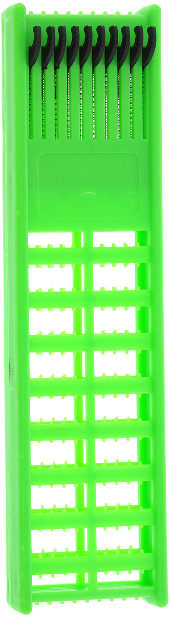 Мотовило для проводов AGP, с пружиной, цвет: зеленый, 21,5 х 6 х 1,3 см