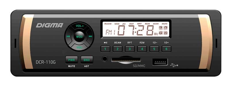 Digma DCR-110G автомагнитола автомагнитола digma dcr 110g