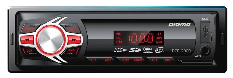 цена на Digma DCR-200R автомагнитола