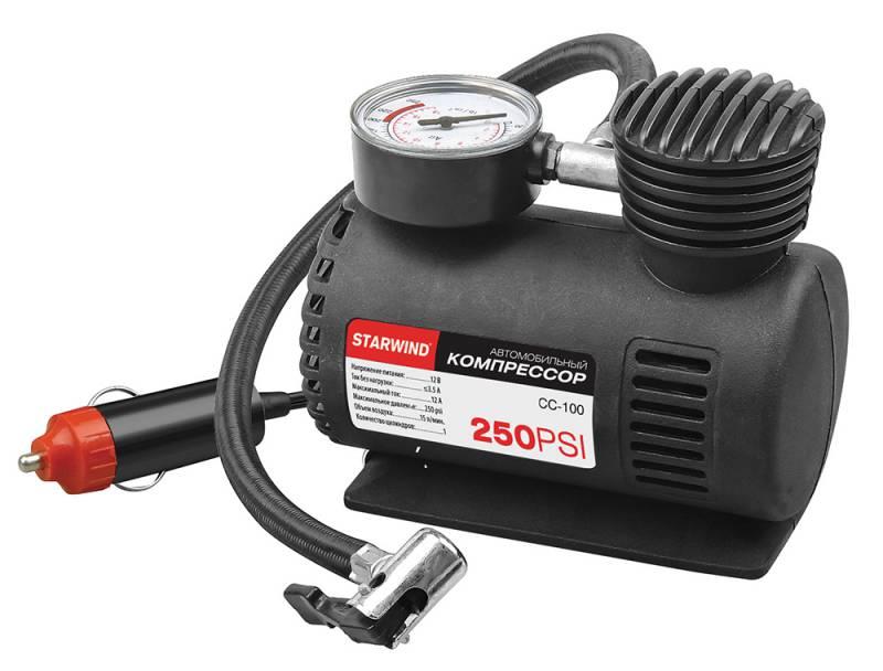 Компрессор автомобильный Starwind CC-100, 15 л/мин