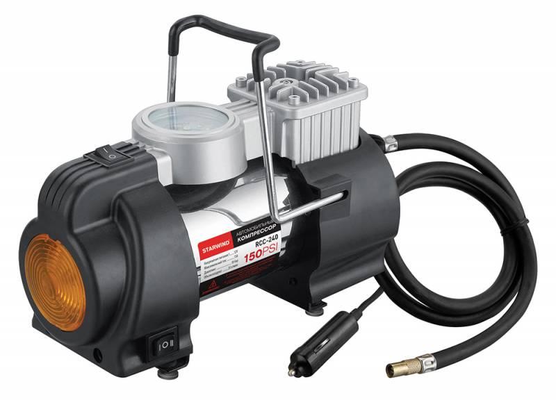 Компрессор автомобильный Starwind CC-240, 35 л/мин автомобильный компрессор starwind cc 300