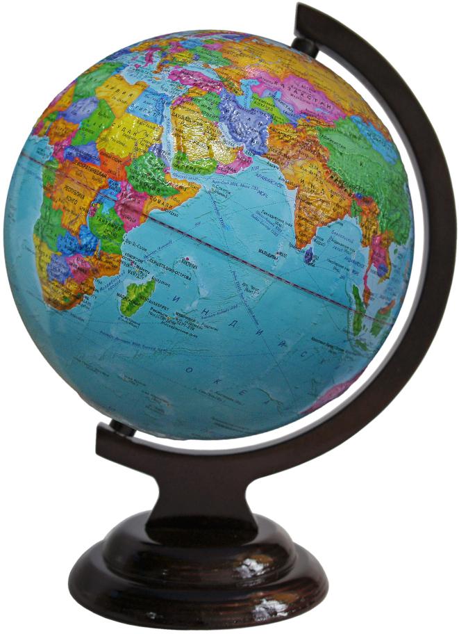 Глобусный мир Глобус с политической картой, рельефный, диаметр 21 см, на деревянной подставке глобусный мир глобус с физической картой рельефный диаметр 25 см на деревянной подставке