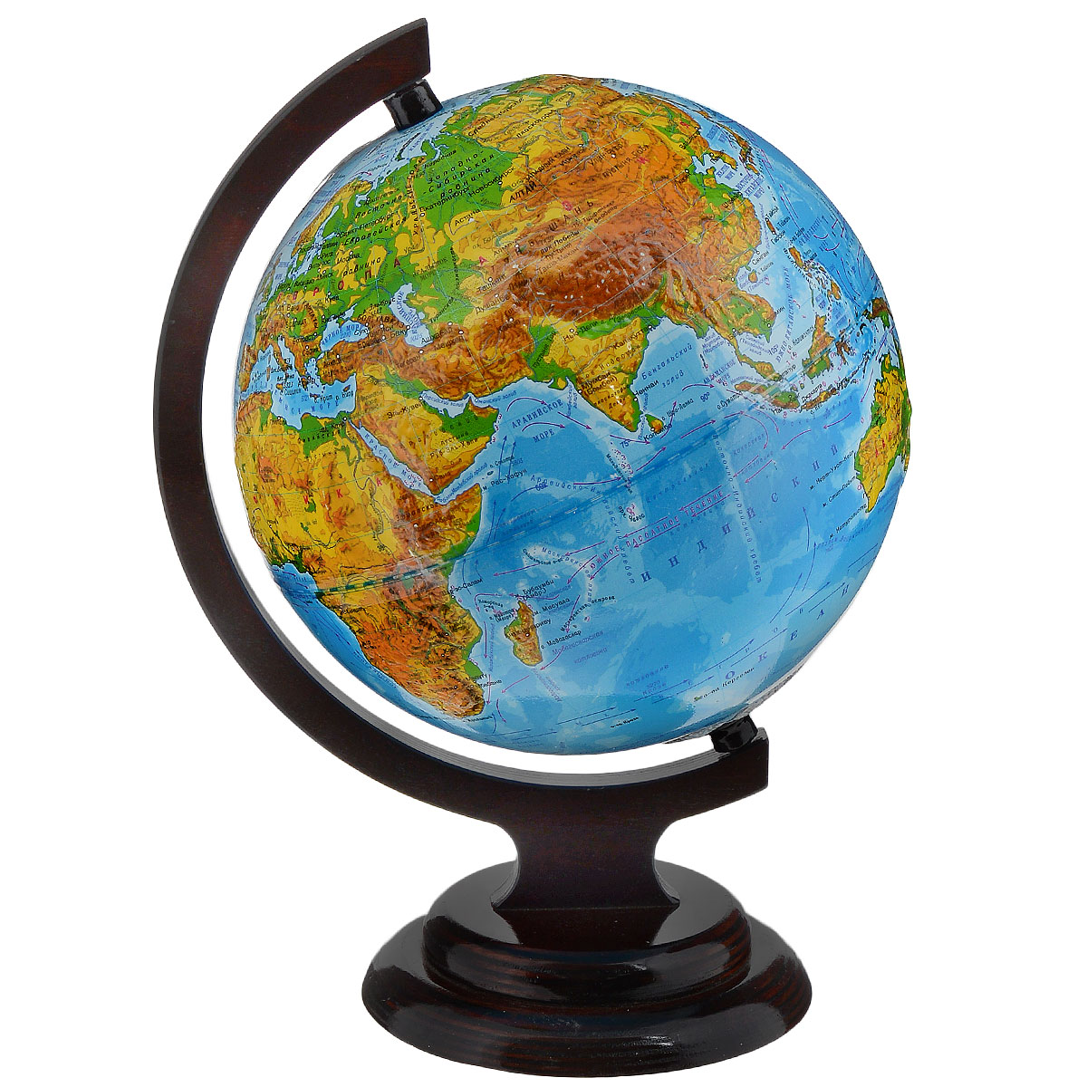 Глобусный мир Глобус с физической картой, рельефный, диаметр 21 см, на деревянной подставке глобусный мир глобус с физической картой рельефный диаметр 25 см на деревянной подставке