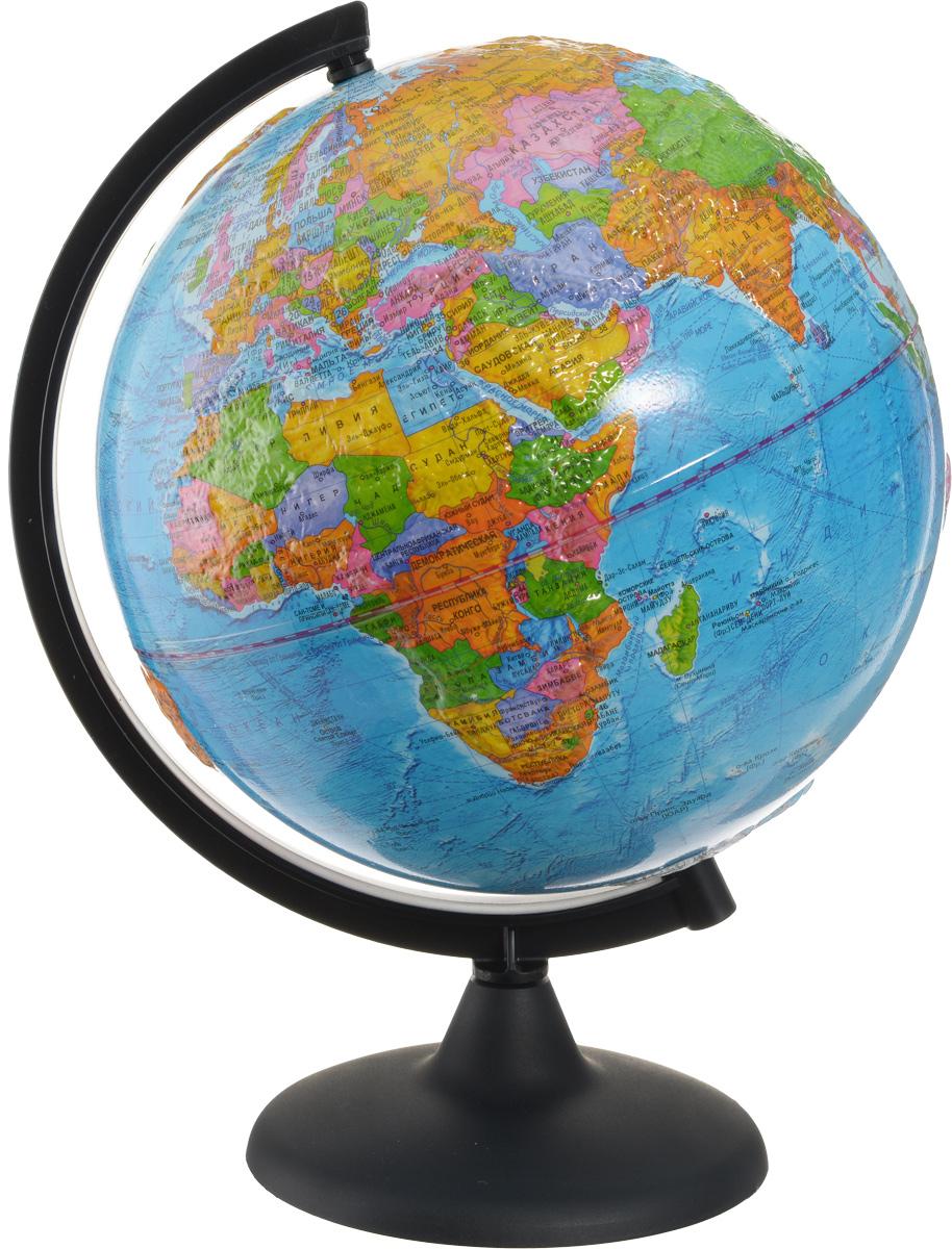 Глобусный мир Глобус с политической картой мира рельефный, диаметр 25 см Глобусный мир