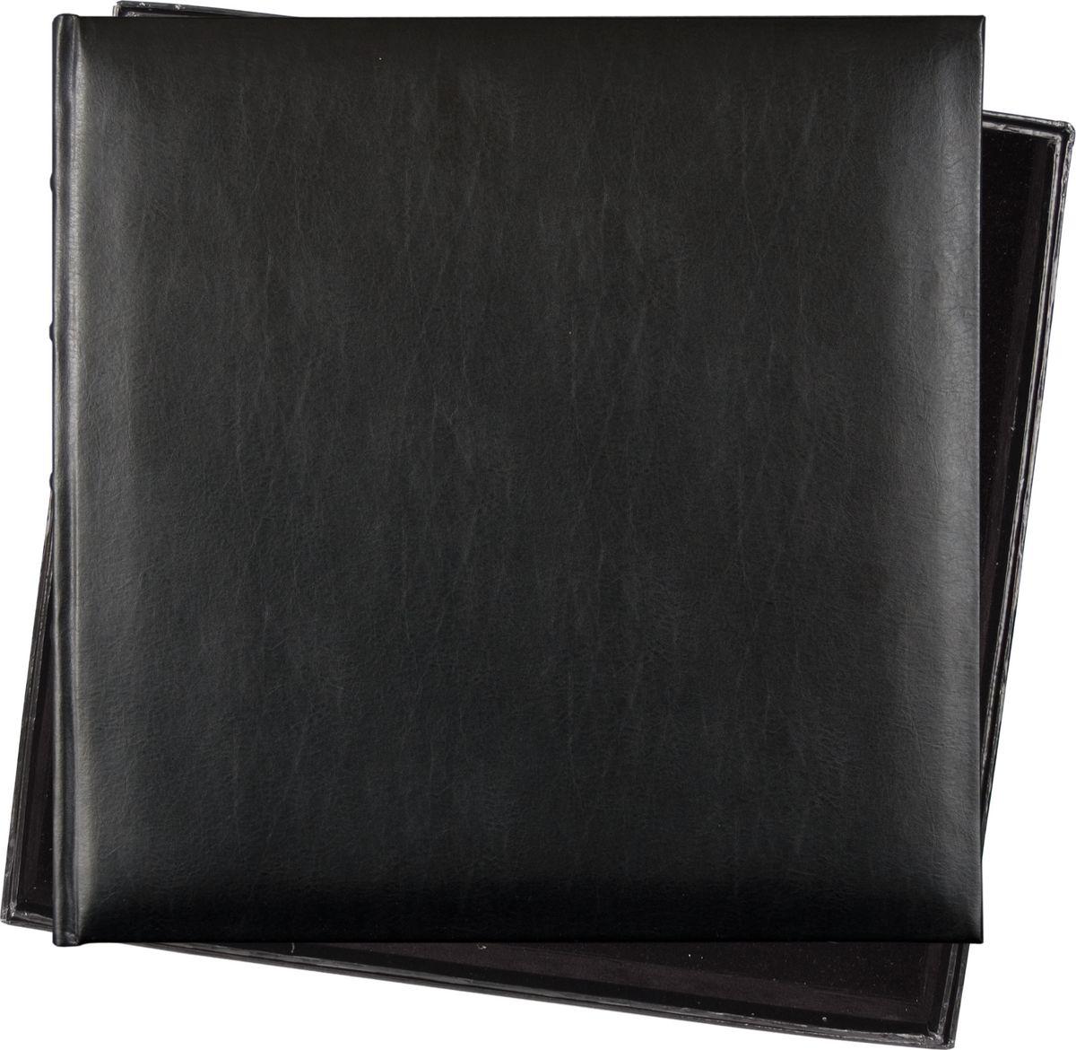 Фотоальбом Innova Bonded Leather, под уголки, цвет: черный, 36 х 36 см. Q609935 nakabayashi kt cat strawberry japan import ncl мультфильм альбом сделай сам фотоальбом мультфильм альбом альбом lf 120 2 1