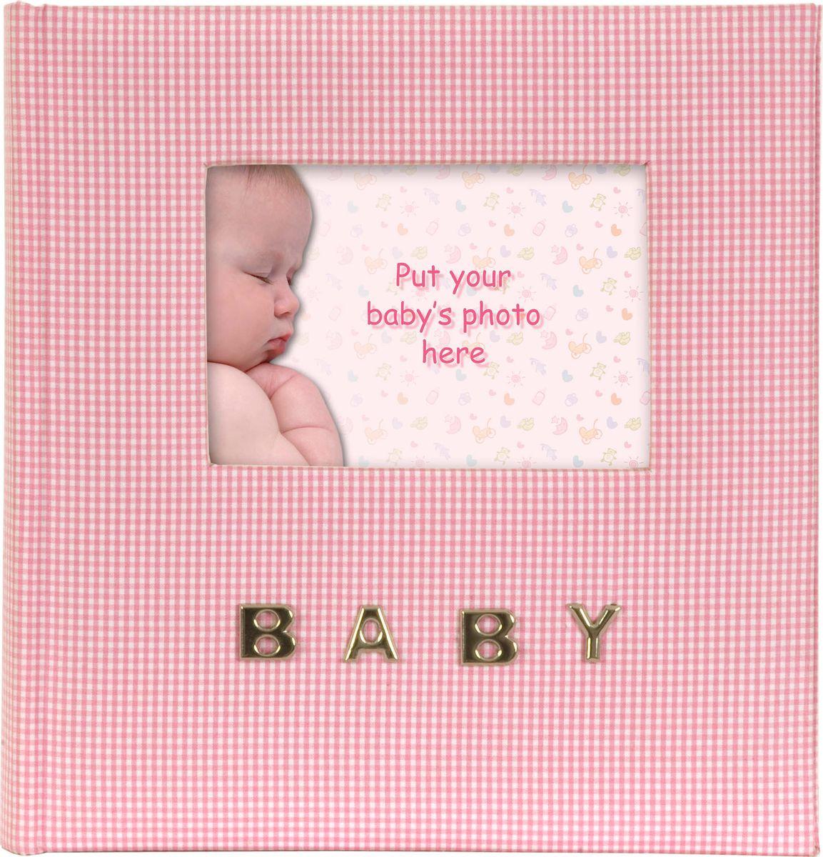 Фотоальбом Innova Baby Gingham, цвет: розовый, 100 фотографий, 10 x 15 см. Q9306337 фотоальбом pioneer man style 100 фотографий цвет темно зеленый хаки 10 x 15 см