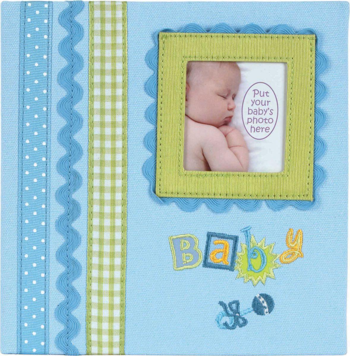 Фотоальбом Innova Baby Memories Blue Memo, цвет: голубой, 180 фотографий, 10 x 15 см фотоальбом platinum детский альбом 6 200 фотографий цвет голубой 10 х 15 см
