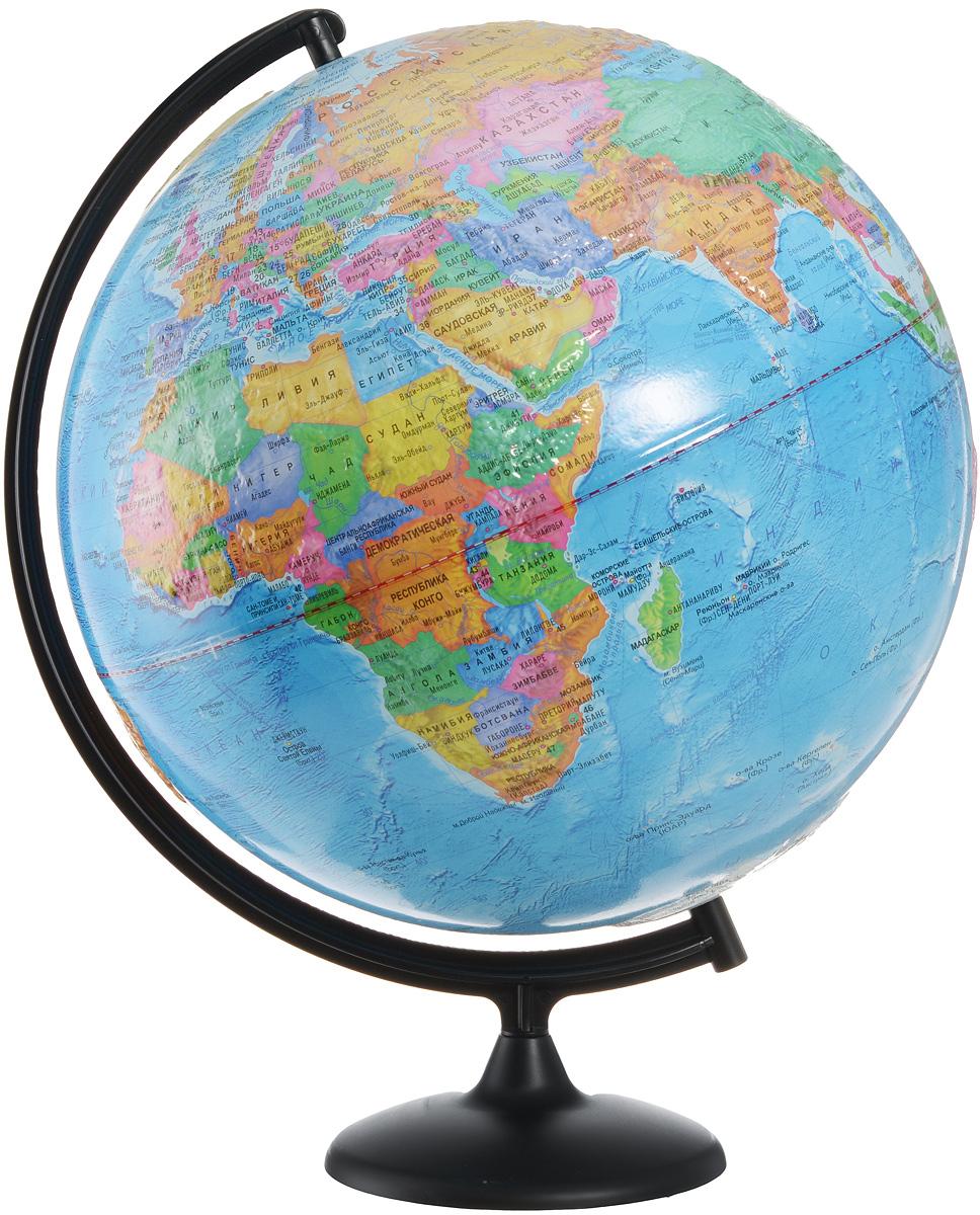 Глобусный мир Глобус с политической картой мира рельефный, диаметр 42 см Глобусный мир