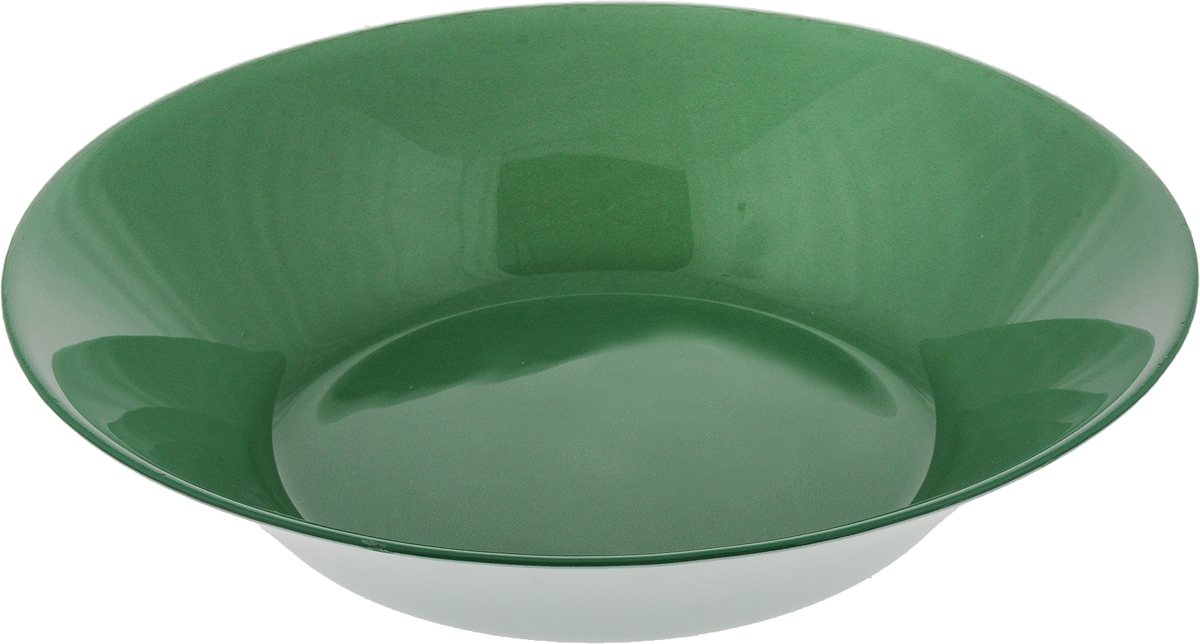 Тарелка глубокая Pasabahce Грин Сити, цвет: зеленый, диаметр 22 см тарелка глубокая gotoff цвет фисташковый диаметр 18 5 см