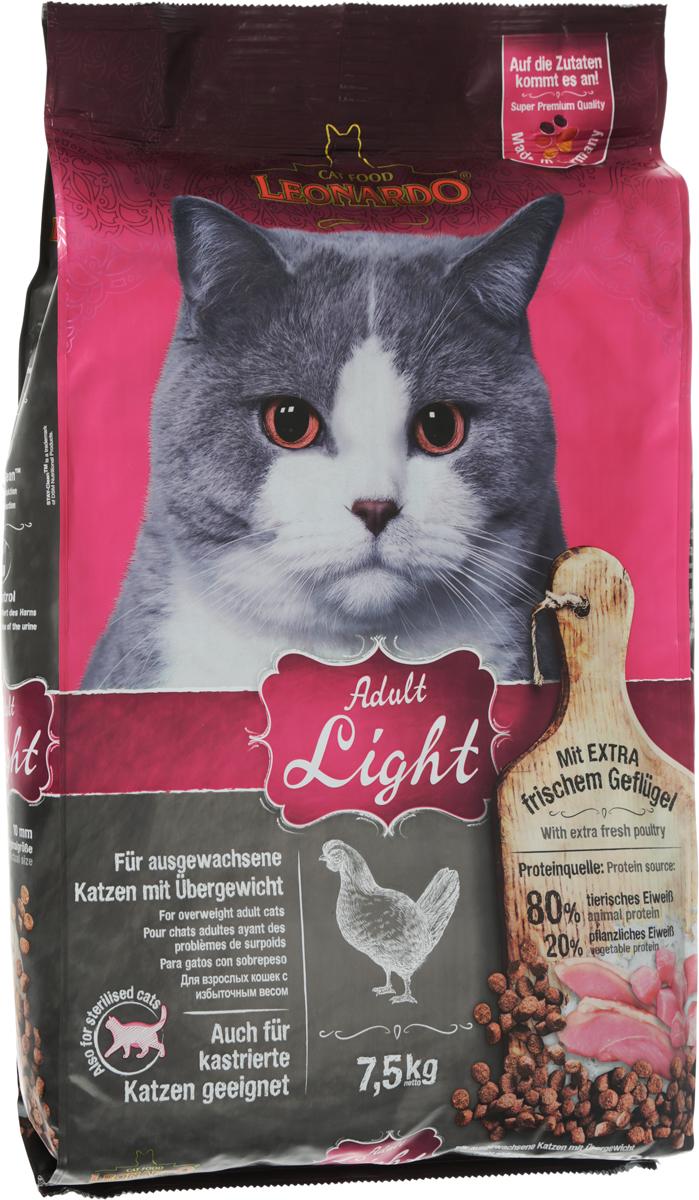 Корм сухой Leonardo New Light для кастрированных котов и стерилизованных кошек, для животных, страдающих избыточным весом, 7,5 кг63015Сухой корм Leonardo New Light предназначен для кастрированных котов и стерилизованных кошек, а также для животных, страдающих избыточным весом. Существует много причин избыточного веса. Является ли это следствием неправильного кормления, чрезмерного лечения, или причина в гормональном сбое после кастрации, - во всех случаях снижается активность вашего питомца и значительно увеличивается риск заболевания. Скорректировав диету кошки как можно раньше с помощью низкокалорийного корма New Light, вы поддержите здоровье питомца в отличной форме. Морской зоопланктон (криль) - обогащен важными компонентами, такими как жирные кислоты Омега-3, астаксантин и натуральные энзимы. Семена чии поддерживают пищеварение при помощи природных слизистых веществ и содержат 20% жирных кислот Омега-3. Корм содержит насыщающие яблочные волокна. В составе натуральный источник диетической клетчатки. Преимущества: - L-карнитин - способствует снижению веса. - Удаление зубного налета с помощью добавки STAY-Clean. - PH контроль - оптимизирует PH мочи. Источники белка: 80% животный белок, 20% растительный белок. Состав: свежее мясо птицы (30 %); белок домашней птицы пониженной зольности, высушенный (23 %); рис; кукуруза; мука сельди (9 %); яблочный жмых, сушеный (4 %); гидролизат печени птицы; рожь, солод; высушенное яйцо; морской зоопланктон, измельченный (криль, 2,5 %); овсяные отруби (2,5 %); пивные дрожжи, сушеные; cемена чии (1,3 %); жир домашней птицы; поваренная соль; калий хлористый; инулин. Разм...