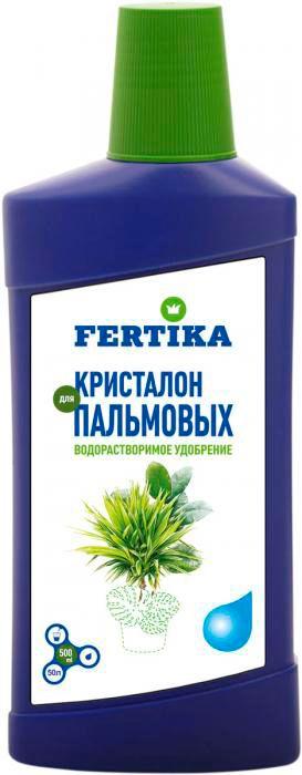 Удобрение Фертика Кристалон, для пальмовых, жидкое, 500 мл удобрение для фикусов и пальм 285 мл