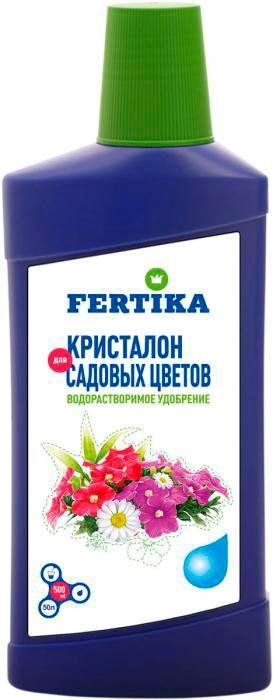 Удобрение Фертика Кристалон, для садовых цветов, жидкое, 500 мл удобрение для декоративно лиственных растений 285 мл