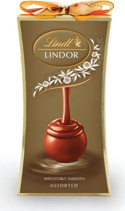 Lindt Lindor конфеты ассорти, 75 г шоколад lindt lindor молочный 200г
