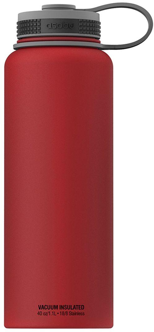 Термобутылка Asobu The Mighty Flask, цвет: красный, 1,1 л термобутылка 1 1 л asobu the mighty flask белая tmf1 white